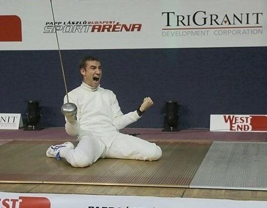 Marosi Ádám a vívók egyéni országos bajnokságán aranyérmet nyert