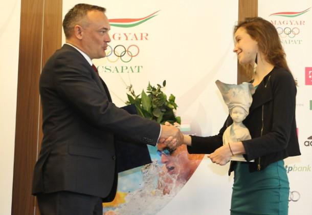 Földházi Zsófia a Nők Sportjáért díjat kapott