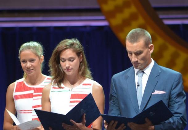 Földházi Zsófia és Marosi Ádám mondta az olimpiai esküt!