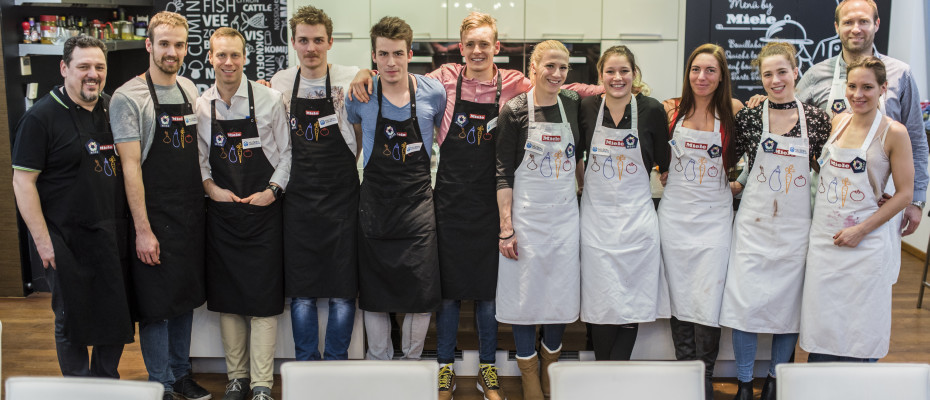 Öttusacsapatok főzőversenye a Miele szakértő segítségével