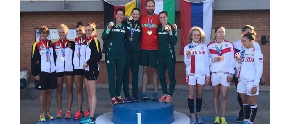 Guzi Blanka ezüstérmet nyert, a lánycsapat aranyérmes