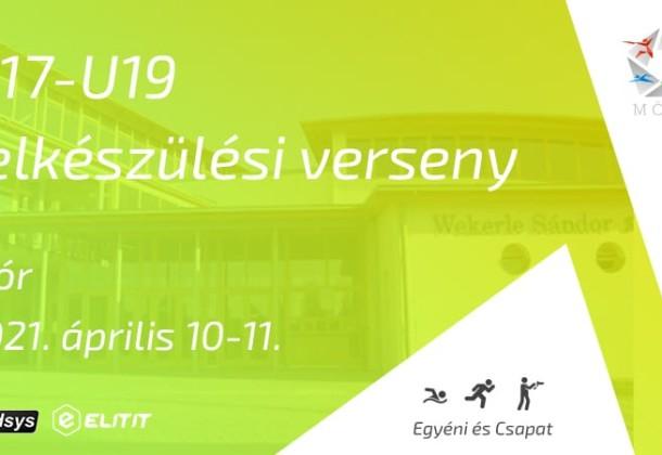 VERSENYKIÍRÁS PBT Kupa U19-U17 felkészülési verseny 2021.04.10-04.11.